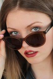 Kahverengi Oval Clariss Marka Bayan Güneş Gözlüğü-2