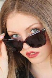 Bordo Kare Clariss Marka Bayan Güneş Gözlüğü-2
