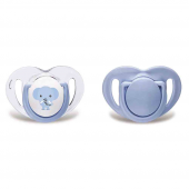 Mamajou Mmj3077 2 Li Silikon Ortodontik Emzik 12m+ (Mavi Fil)