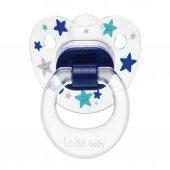 Wee Baby 838 Şeffaf Desenli Silikon Damaklı Emzik 18+ Ay