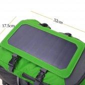 Retro Solar Backpack 7 Watt 45l Yeşil Sırt...