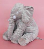 Uyku Arkadaşım Fil 65cm - Peluş Toy Elephant - Büyük Yumuşak FİL-5