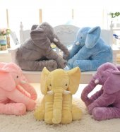 Uyku Arkadaşım Fil 65cm - Peluş Toy Elephant - Büyük Yumuşak FİL-7