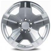 Emr 5336 16 6.5x16 5x120 Et38 65.1 Silver Polished...