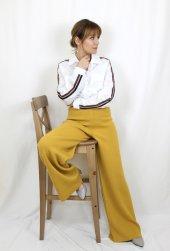 Pamuklu Kolları Şeritli Beyaz Gömlek XSG3118-3