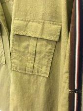 Pamuklu Kolları Şeritli Beyaz Gömlek XSG3118-8