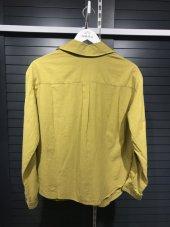 Pamuklu Kolları Şeritli Beyaz Gömlek XSG3118-12