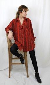 Yılan Desenli Kırmızı Gömlek XSP2173