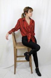 Yılan Desenli Kırmızı Gömlek XSP2173-2