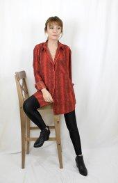 Yılan Desenli Kırmızı Gömlek XSP2173-3