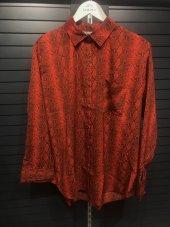 Yılan Desenli Kırmızı Gömlek XSP2173-5