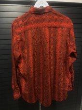 Yılan Desenli Kırmızı Gömlek XSP2173-6