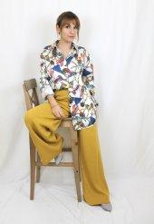 Vintage Desenli Saten Gömlek XSP2170-3