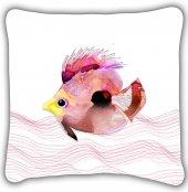 Kırmızı Balık İç Dolgulu Kırlent Yastık