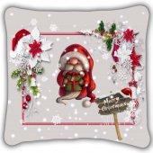 Noel Baba Dıgıtal Baskılı Kırlent Yastık
