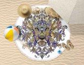 Yuvarlak Plaj Havlusu 150cm Çapında