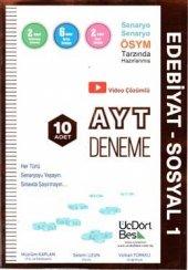 Ayt Edebiyat Sosyal 1 10 Lu Deneme Sınavı Üçdörtbeş Yayınları