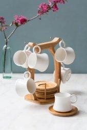 Bambu 6' Lı Standlı Kahve Takımı