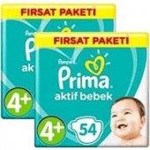 Prima Bebek Bezi 4+ Beden 54 Lü 2 Pk Toplam 108 Adet Maxi Plus