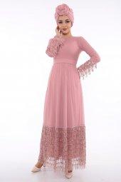 Loreen Kadın Gül Abiye Elbise