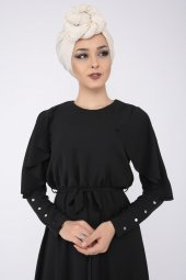 PUANE Kadın Siyah Elbise-4