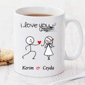 ı Love You Kişiye Özel Kupa Pi154