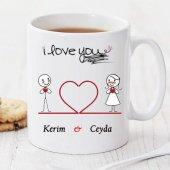 ı Love You Kişiye Özel Kupa Pi156