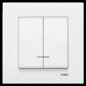 Viko Karre Işıklı Komutatör Elektrik Anahtar Düğme Çerçeveli