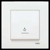 Viko Karre Işıklı Light Anahtarı Düğmesi Çerçeveli