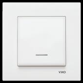 Viko Karre Işıklı Tekli Elektrik Anahtar Düğme Çerçeveli