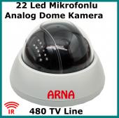Mikrofonlu Analog Kamera Gece Görüşlü
