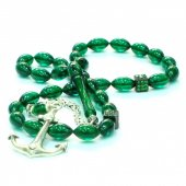 Yeşil Bakalit Kehribarı Tesbih-2