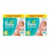 Prima Bebek Bezi 4 Beden 60 Lı 2 Paket Toplam 120 Adet Fırsat Pak