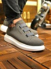 Chekich Ch253 Süet Beyaz Taban Erkek Ayakkabı Antrasit