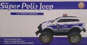 Süper Polis Jeep Uzaktan Kumandalı Polis Arabası İleri Geri Fonksiyon