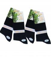 Bambu Erkek Çorap Siyah, Yazlık 12li Set