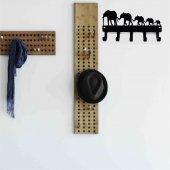Elephants Family Metal Anahtar Askılığı-2