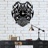 Harley 100 Metal Duvar Saati