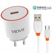 Vidvie Ple210q 5v 3a 9v 2a 12v 1.5a Quick Charge 3.0 Micro Usb Hızlı Şarj Cihazı