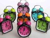 Masa Saati Çalar Saat Renkli Zilli Saat