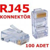 Rj45 100 Adet Network Konnektör Jack Cat5 Cat6