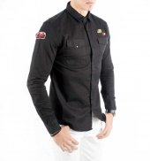 DeepSEA Kolları ve Önü Armalı Çıtçıtlı Spor Kanvas Erkek Gömlek 1-7
