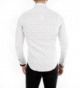 DeepSEA İtalyan Kesim Baskılı Uzun Kollu Erkek Gömlek 1804013-3