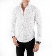 DeepSEA İtalyan Kesim Baskılı Uzun Kollu Erkek Gömlek 1804013-4