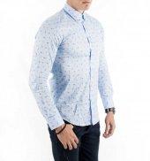 DeepSEA İtalyan Kesim Baskılı Uzun Kollu Erkek Gömlek 1804013-7