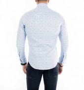 DeepSEA İtalyan Kesim Baskılı Uzun Kollu Erkek Gömlek 1804013-9
