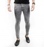 DeepSEA Önü ve Paçası Yırtık Skinny Kesim Erkek Kot Pantolon 1800