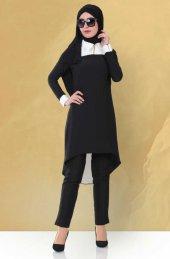 Ginza Wear Sivri Yakalı Tunik 1700 Siyah
