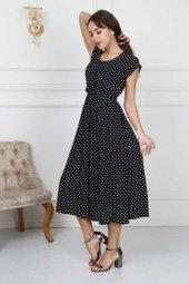 Puantiyeli Elbise 05 3001 Siyah