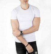 DeepSEA Sıfır Yakalı Likralı Dar Kesim Basic Erkek Tişört 1801131-3